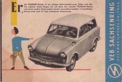 trabant 500 prospekt 1961 news fotos berichte und. Black Bedroom Furniture Sets. Home Design Ideas