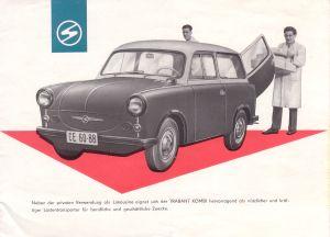 Trabant Kombi P50, Prospekt 1960
